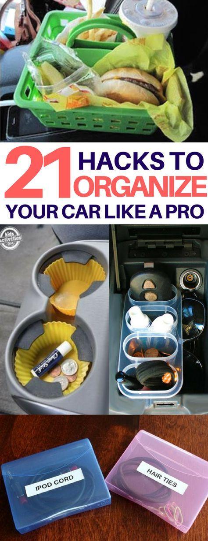 Must-read car organization hacks I can't wait to try! How to organize your car, organization tips, car organization ideas, clean car ideas, car cleaning tips