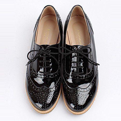 おじ靴 エナメルウィングチップオックスフォードシューズ (23.5cm, 01.ブラック) ディスコパンパン http://www.amazon.co.jp/dp/B00KS0CLHW/ref=cm_sw_r_pi_dp_.0Tbvb0JPB019
