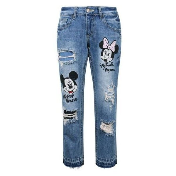 Disney Mickey Minnie Mouse Vintage Washed Cotton Denim Jean Pants Liked On Polyvore Featuring Kids Denim Jeans Mickey Mouse Outfit Fashion Baby Girl Outfits