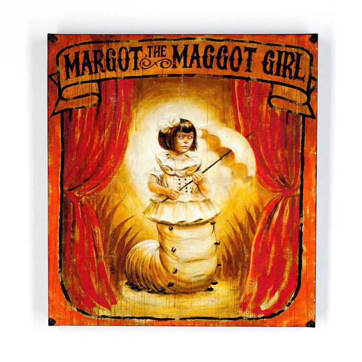 """Margot The Maggot Girl by John Dunivant-selling now on 1st Run, paint on canvas 12""""X13""""-gorgeous!"""
