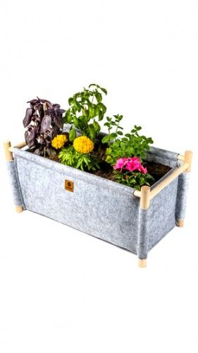 Perfect for creating your own little garden at your balcony. It's EQUA HOME grey gardening pot. Price on sale: 29,95€