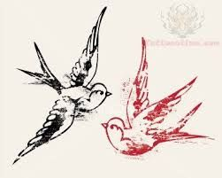 """sparrow tattoo Luke 12:6-7 """"Are not five sparrows sold for two farthings, and not one of them forgotten before God? But even the very hairs on your head are all numbered. Fear not therefore: ye are of more value than many sparrows."""""""