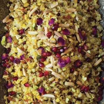 Image for Jeweled Brown Basmati Rice and Quinoa (Morassa Polo) from The New Persian Kitchen