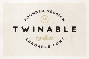 http://Twinable is the rounded brother of Agroable, but with it's own personality. The font is great for many purposes but would do extremely well in logotypes. It would work well for both acting as the 'main' font in a logo as a secondary font (for example for a tagline or slogan).