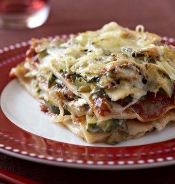Photo de la recette : Lasagnes aux courgettes et au chèvre