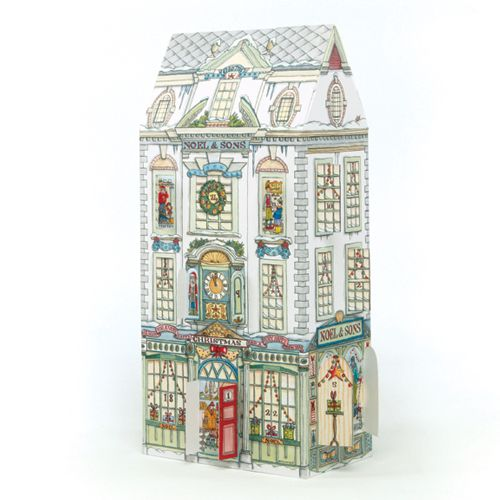 ADV27 Christmas Department Store Advent Calendar by Phoenix Trading. Pop open a window each day to see what is behind. Only £7.50 and can be ordered at www.nichola.cards