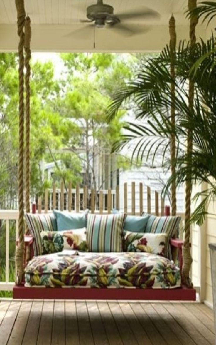 17 best images about hanging things on pinterest diy for Easy porch swing
