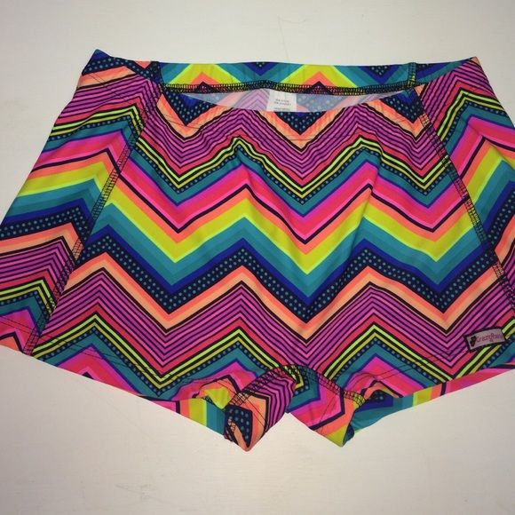 Multicolored Chevron Spandex, Crazy Pants Brand new, perfect condition spandex. Never worn, AM crazy pants Shorts