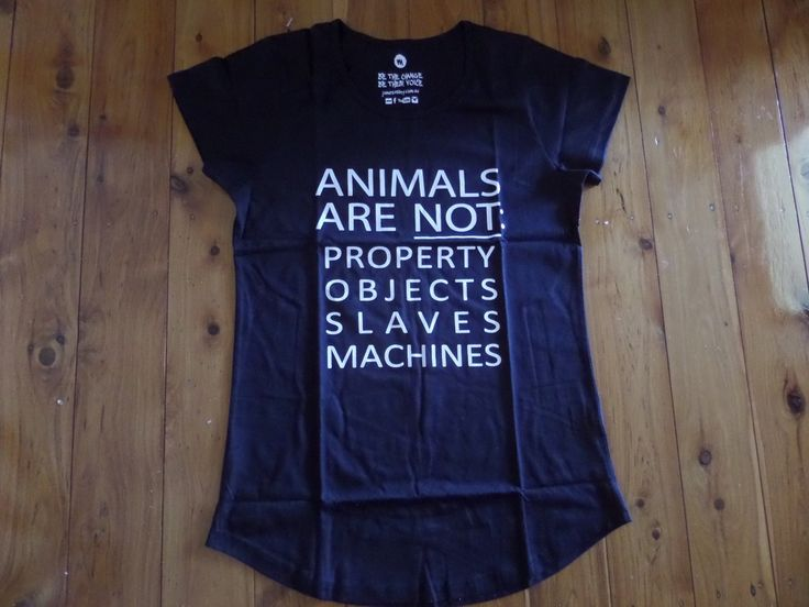 "James Aspey ""ANIMALS ARE NOT PROPERTY""  Ladies T-Shirt"