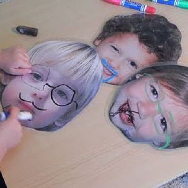 """Take high resolution photos of your students, print and laminate them for write-on / wipe-off fun. Great for emotions and """"all about me"""" work."""