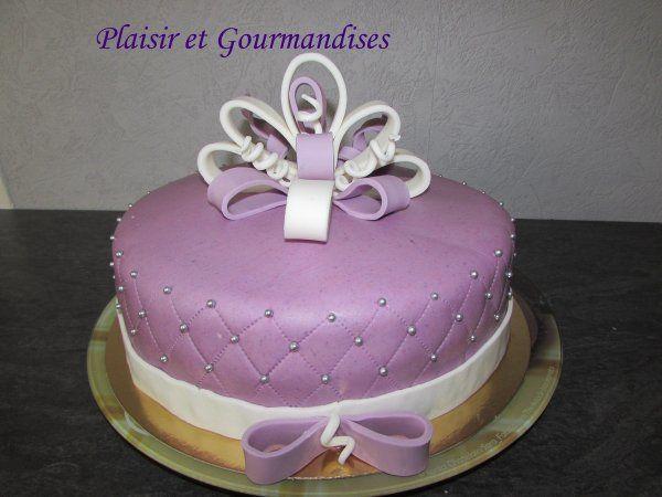 Gâteau Cadeau en effet matelassé