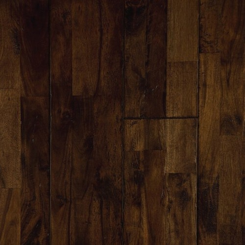 Sable Acacia, from our Reclamation Plank Collection by Heritage Woodcraft features premium grade wide-plank solid hardwood flooring in a handscraped Acacia.