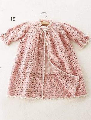 Baby Dress free  #Crochet #Pattern #@Af's 17/4/13