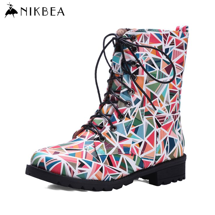 Find More Women's Boots Information about Nikbea Punk Martins Boots Women High Ankle Riding Boots Large Size  Lace Up Botines Mujer 2016 Autumn Winter Motorcycle Botas,High Quality motorcycle professional,China motorcycle yellow Suppliers, Cheap motorcycle hayabusa from nikbea on Aliexpress.com