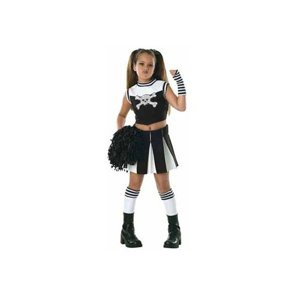 Girls Cheerleader Costumes | Kids Cheerleader Halloween Costume for a Girl ($28) found on Polyvore