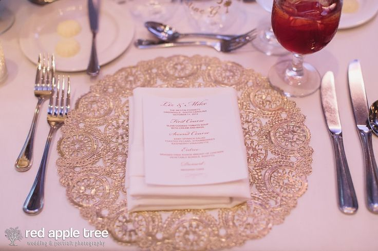 Gold doily placemats