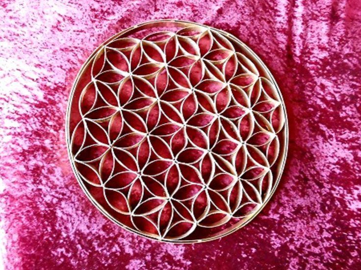 Blume des Lebens, gemacht aus Klopapier-Rollen !