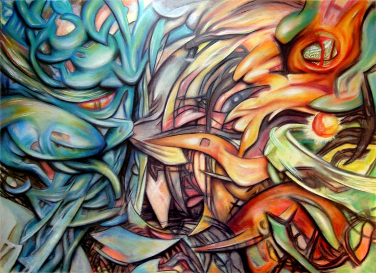 Opposition  Painting - Mixed - Pastel, Oil Pastel, Oils, Acrylic.  30.000 x 22.500 inches  SOLD