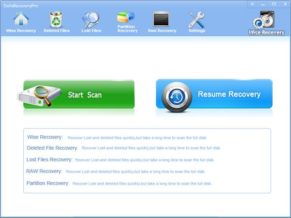 You may lose your critical data due to accidental/intentional deletion of files, enen after 'shift+del' deletion or empty recycle bin, WireRecovery also able to recover the files. WiseRecovery supports wide kinds of deleted files, such as MS Office documents, Acrobat, Archive, Audio, Video, Image, Backup, Database, and Internet files, in total, there are more than 600+ major file types are supported by WiseRecovery. Read more, http://www.wiserecovery.com/