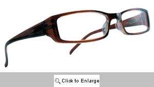 Katherine Clear Lens Glasses - 125A Brown Tones