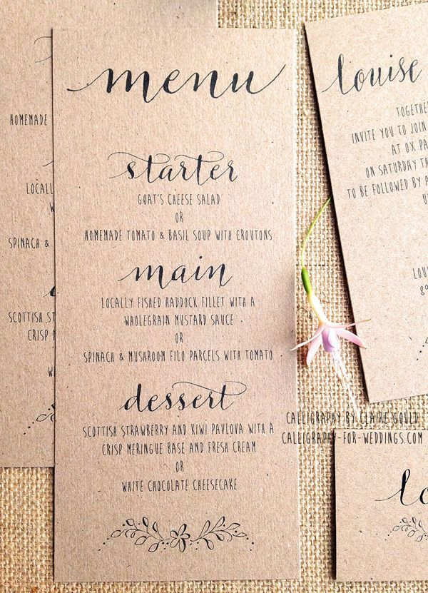 Best 25+ Wedding menu cards ideas on Pinterest | Wedding menu ...