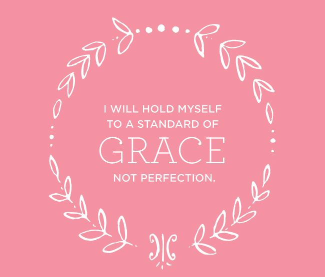 Grace....much better than perfection! @emilyley