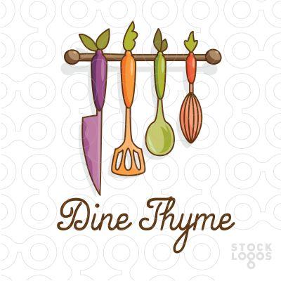 dine thyme gourmet  #logo #design