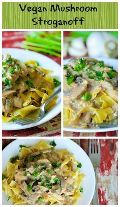 A vegan alternative to traditional beef stroganoff! Creamy and delicious made with my Creamy Tofu Sour Cream.