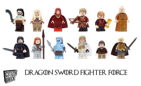 "Dragon Sword Fighter Force game of thrones lego minifigures citizen brick 02 570x347 ""Dragon Sword Fighter Force""   Game of Thrones inspired..."