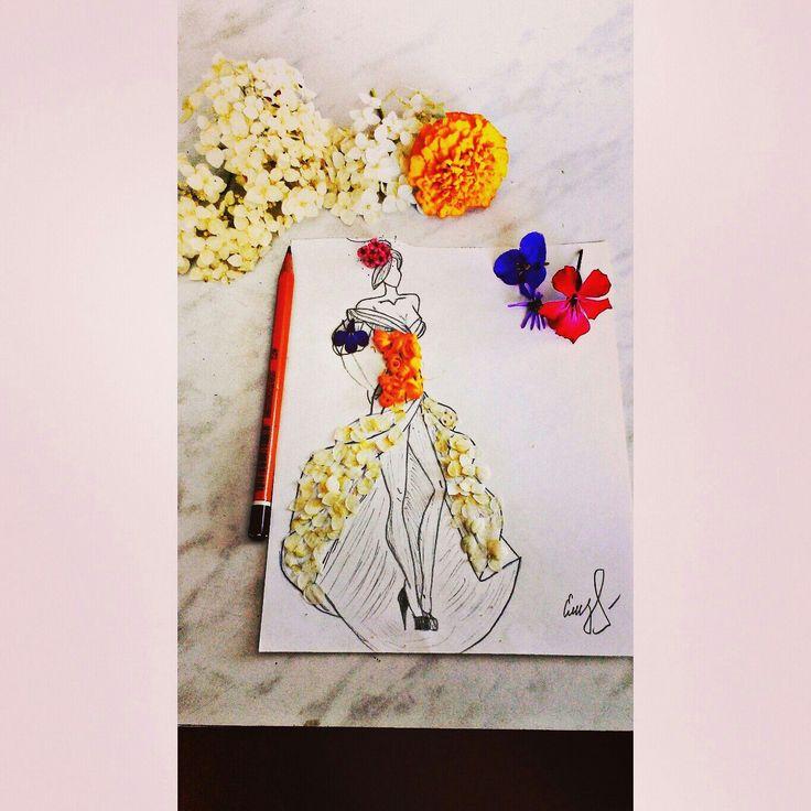 Платья цветы арт дизайн модель стиль мода