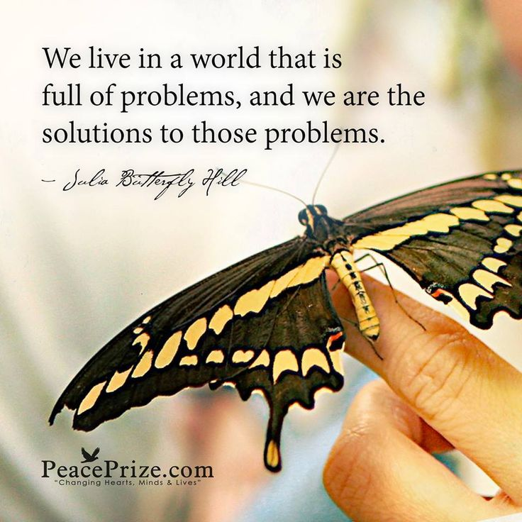 We live in a world that is full of problems, and we are the solutions to those problems.