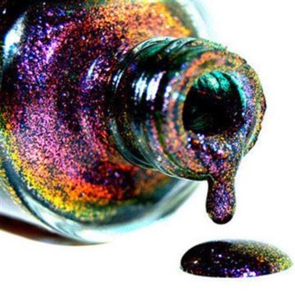 holographic nail polish kleencolor   New Kleancolor CHUNKY HOLO BLACK 3D Holographic Glitter Fashion Nail ...