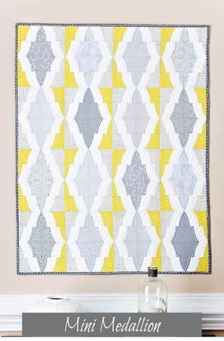 Medallón de mini edredón patrón  patrón de coser tipo de