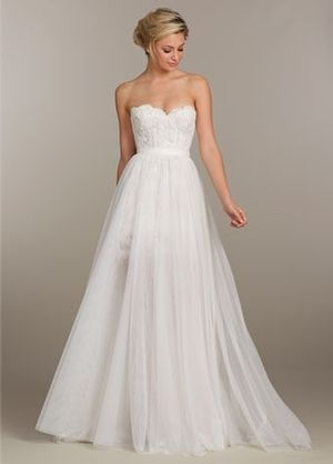 Sweetheart A-Line Wedding Dress  with Natural Waist in Alencon Lace. Bridal Gown Style Number:33119108