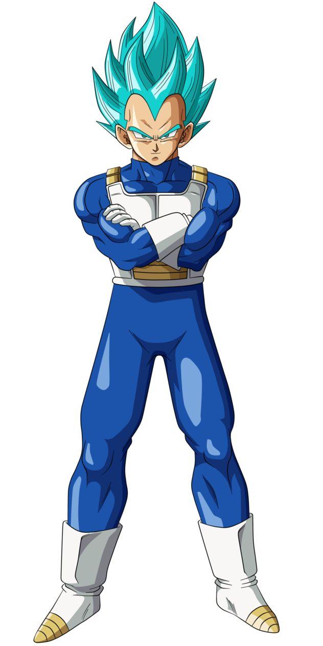 dibujo de vegeta ssj blue pero en une stilo y colores mas fieles a lo que era dragonball z espero que les guste