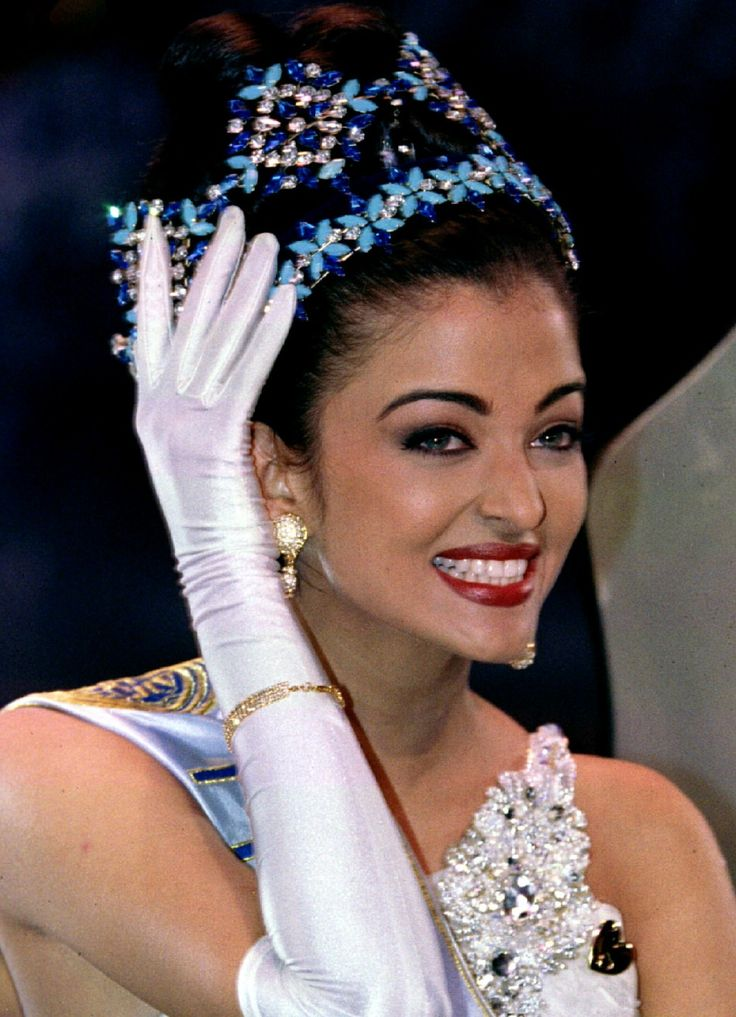 Aishwarya Rai was crowned Miss World 1994.  She is from India and went on to become a famous Bollywood actress.  She is best known for her beautiful light-hued eyes and is considered one of the most beautiful women in the world.