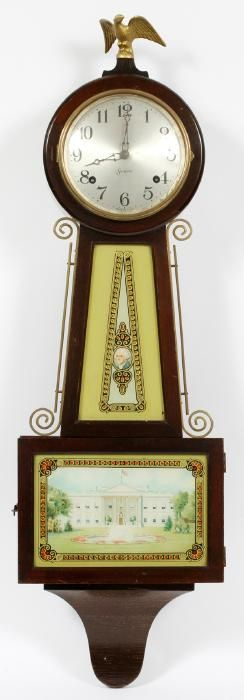 SESSIONS MOUNT VERNON REVERSE PAINTED BANJO CLOCK : Lot 31075