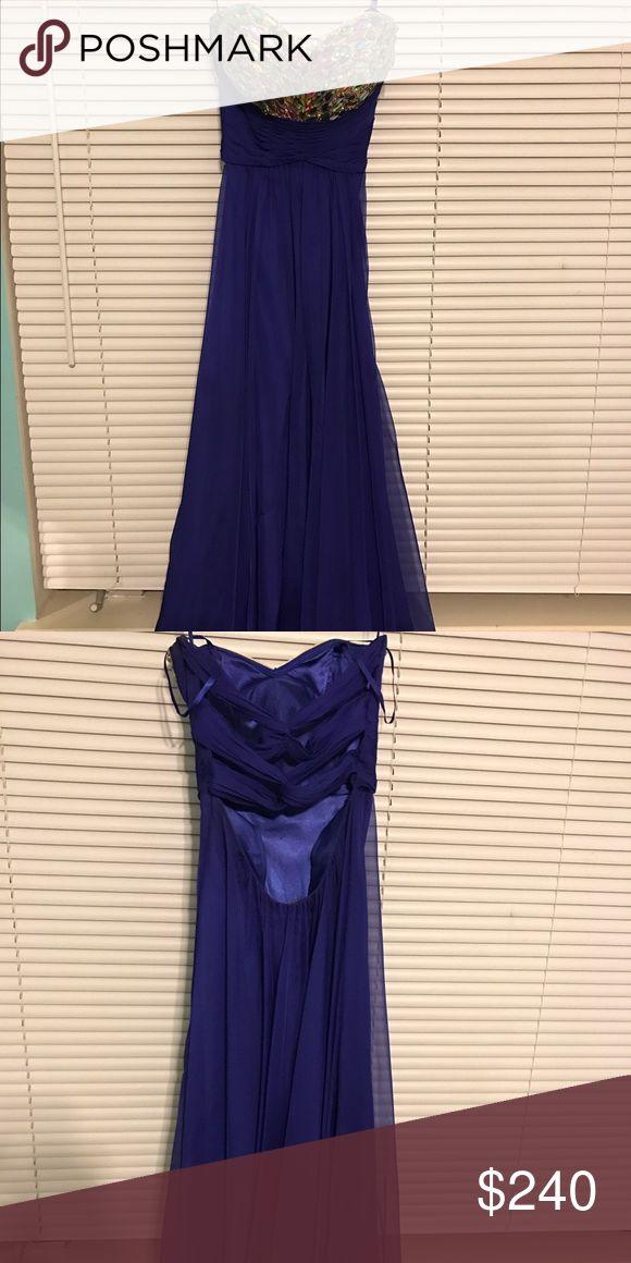 La femme 00 prom dress Blue sequin dress worn once La Femme Dresses Prom