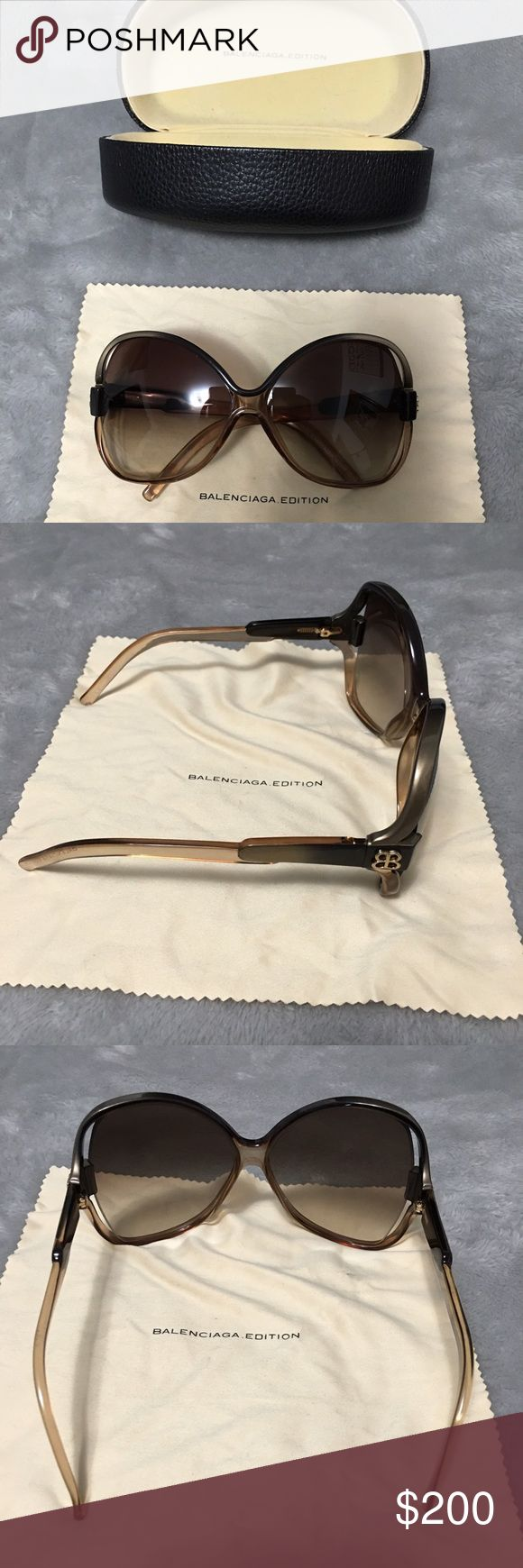 Oversized Balenciaga sunglasses Beautiful Balenciaga 0065/S sunglasses worn by Kim Kardashian. These are my favorite sunglasses but am selling these to get a different color. These are in great condition. I didn't see any scratches on them. Balenciaga Accessories Sunglasses