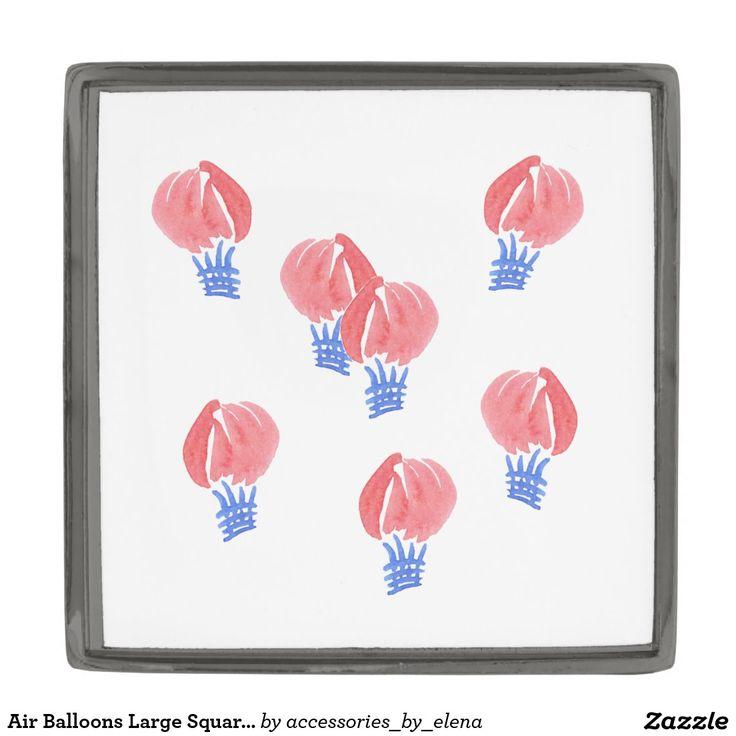 Air Balloons Large Square Lapel Pin