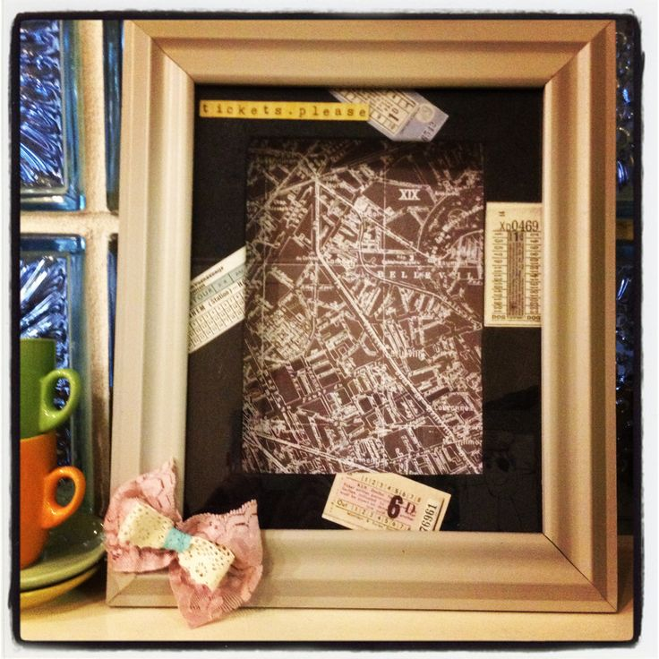 My shadow box that I re-vamped to keep all of my special tickets and memories in one place x