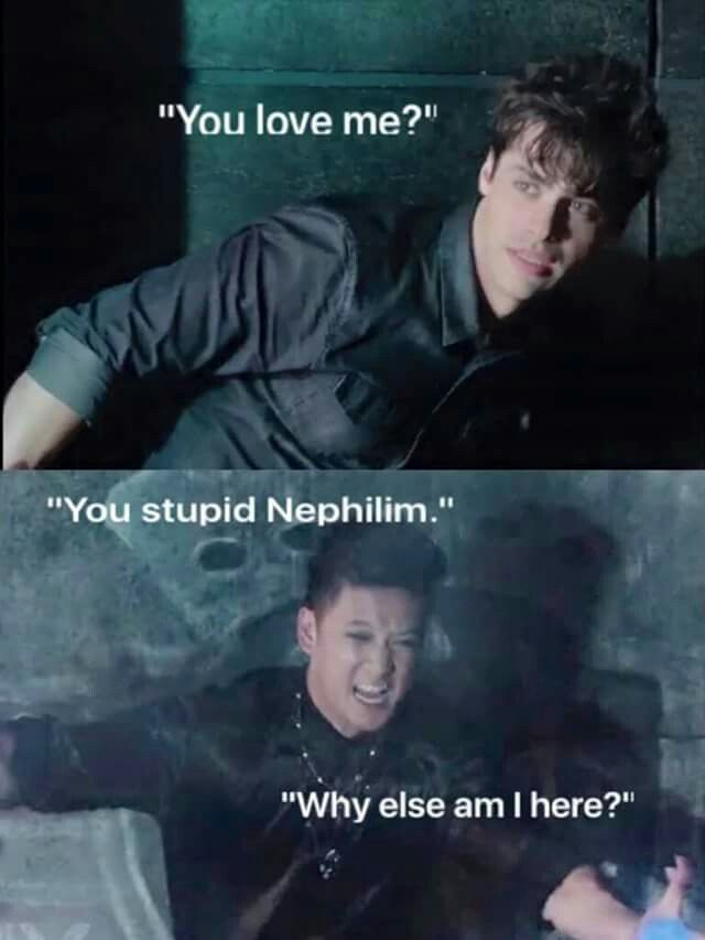 Malec. Waiting for this to happen lol<<< gurl. I know that Malec   kissed killed me I've been waiting for that for years