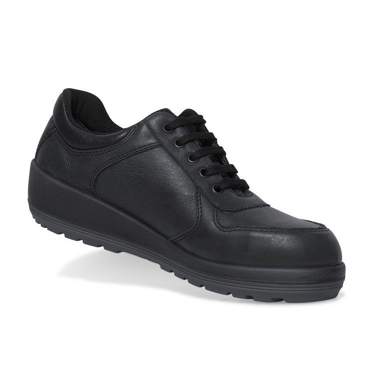 Parade Brava Ladies Premium Soft Black Leather Safety Shoes