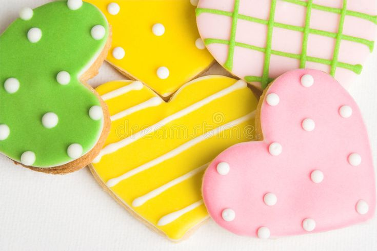 Download Heart Cookies stock image. Image of appetizer, green, valentines - 9042065