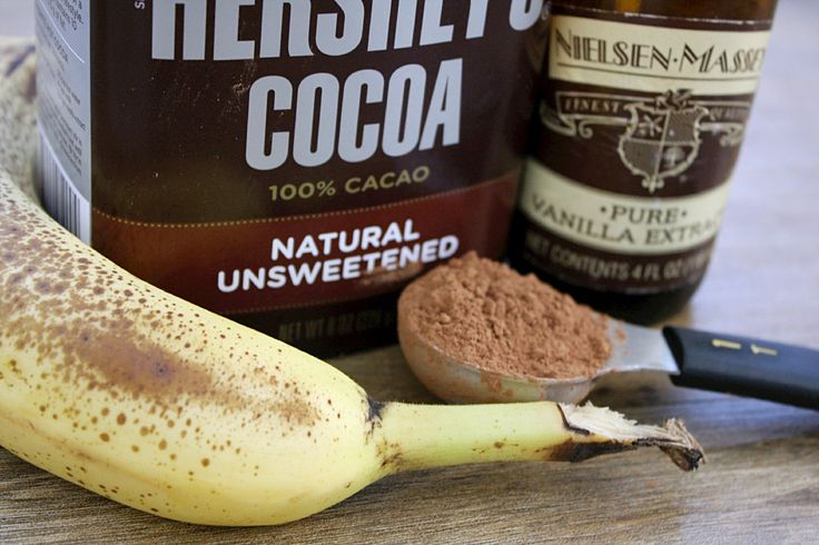 This ice cream. It's healthy!! Its actually good for you. It's the equivalent of eating a banana…because that's basically all that's in it. I originally found this ble…