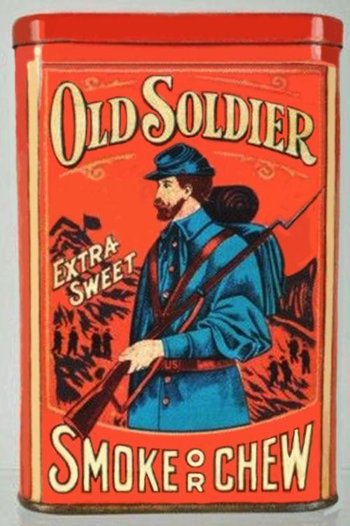 Pocket Tobacco Tin - Old Soldier
