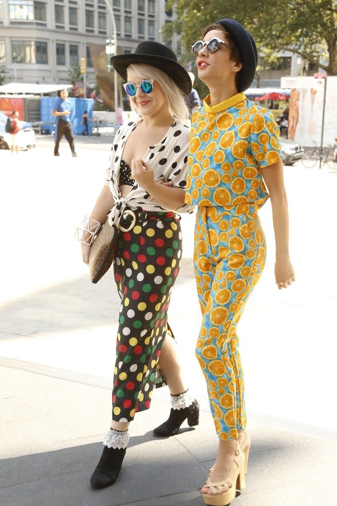 I'm a big fan of anyone completely covered in oranges. They Are Wearing: New York Fashion Week - Slideshow