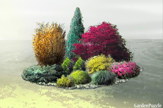 klomb2Soś - GardenPuzzle - projektowanie ogrodów w przeglądarce