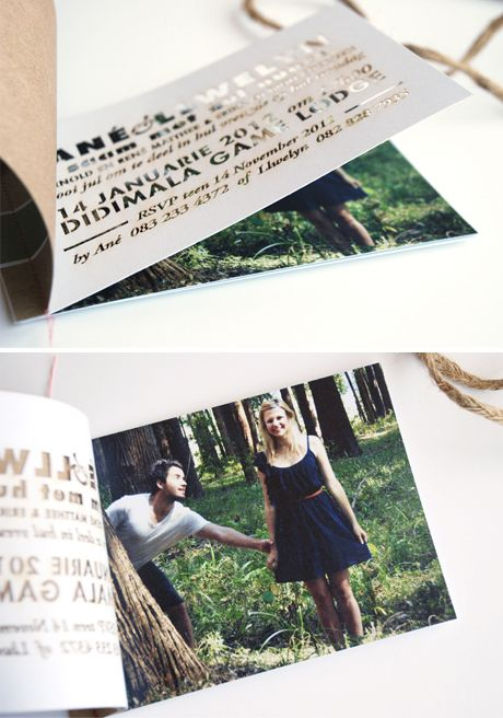Laser-cut invitation card placed over a photograph by Seven Swans