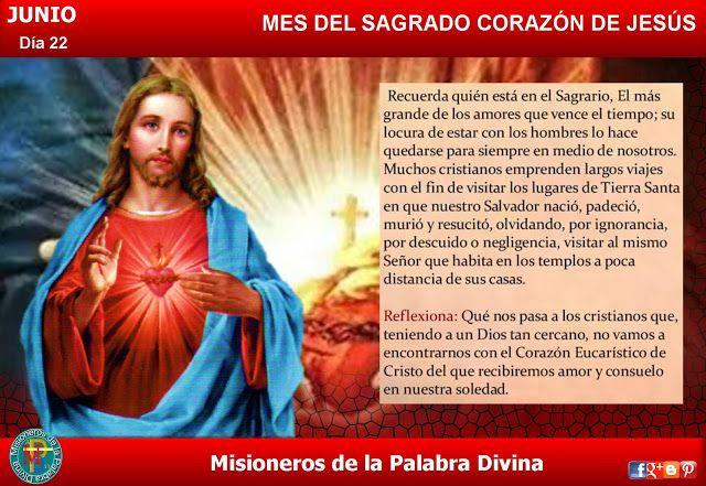 Misioneros de la Palabra Divina: MES DEL SAGRADO CORAZÓN DE JESÚS - DÍA 22